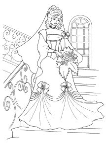 Free Coloring pages for boys and girls: For girls: Barbie
