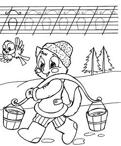 Free Coloring pages for boys and girls: School: Reading