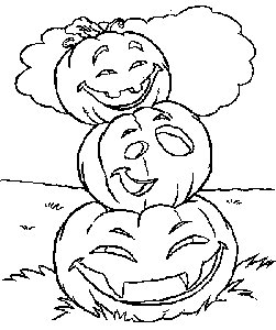 Free Coloring pages for boys and girls: Holidays: Halloween