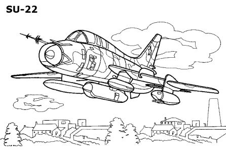 Free Coloring pages for boys and girls: Technique: Air-fighter