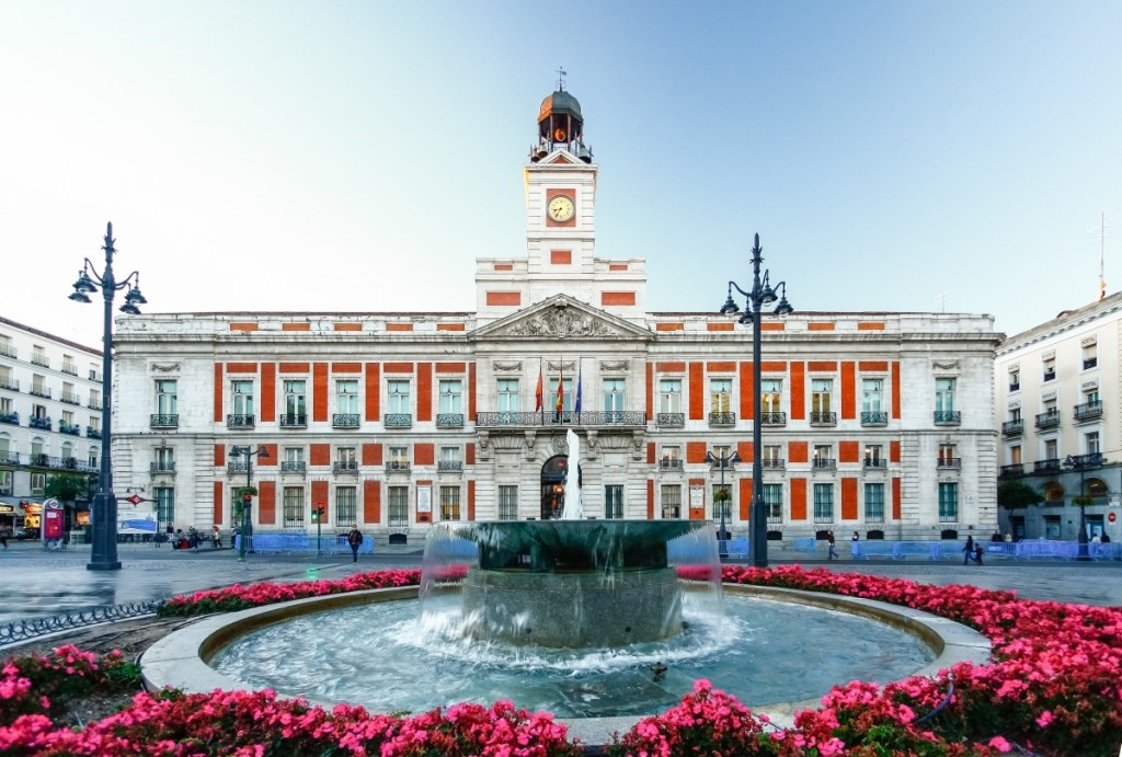 The old Post office at Puerta del Sol. Madrid,  Spain
