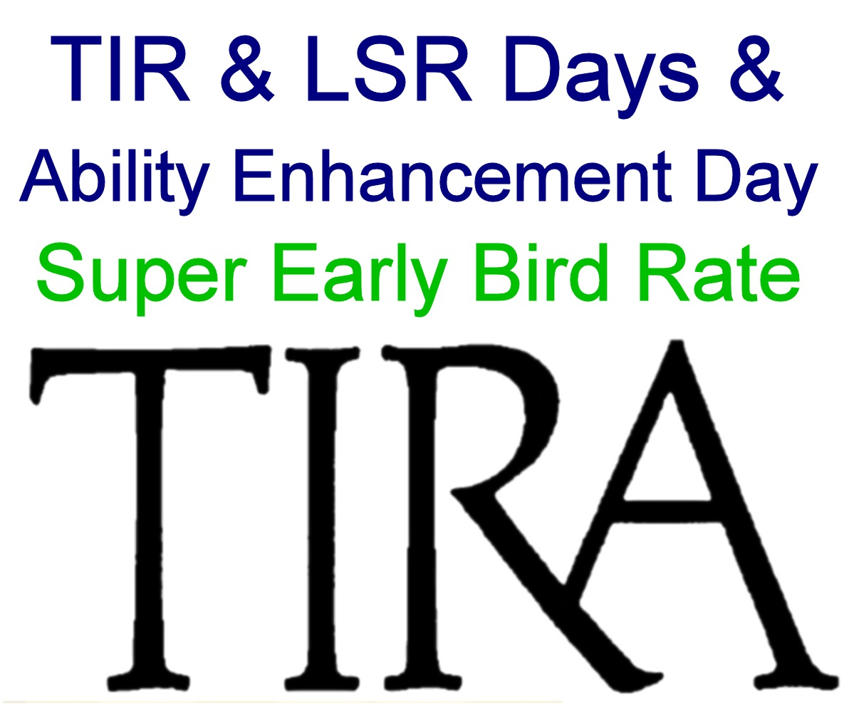 Super Early Bird: TIR & LSR Days and Ability Enhancement Day