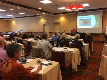 Yvonne Retief (South Africa) addresses the TIRA Symposium