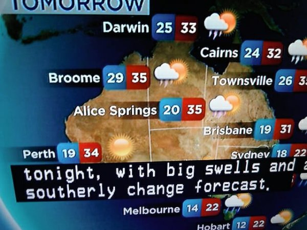 weather lottery australie