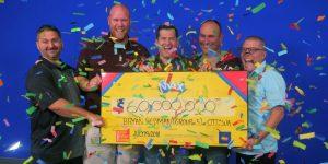 5 fonctionnaires décrochent un jackpot de 60 millions le vendredi 13