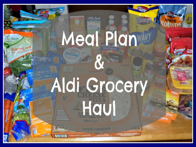 Meal Plan Aldi Grocery Haul