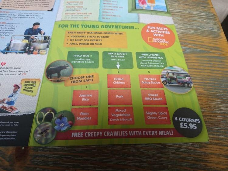 Thaikhun kids menu