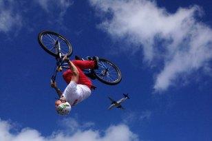 stunt bike rider