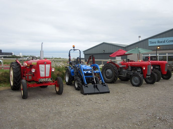 Tractors at Tiree Agricultural Society Show