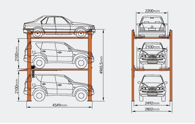 HP2525-3 parkeringsløfter