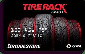 bridgestone tire rack credit card