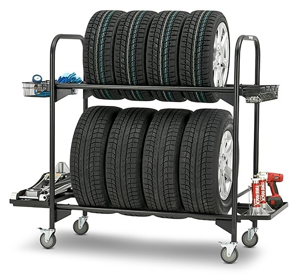 Tire Rack Rolling Tire Storage Rack