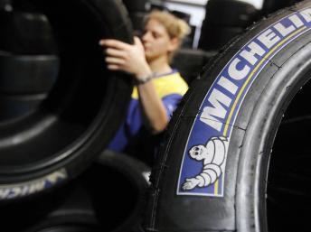 Michelin Tire Stickers  Blue and White Michelin Tire