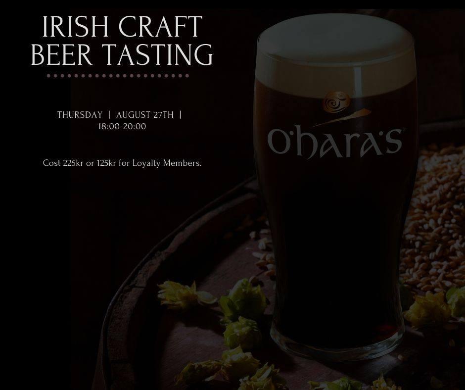 Irish Craft Beer Tasting