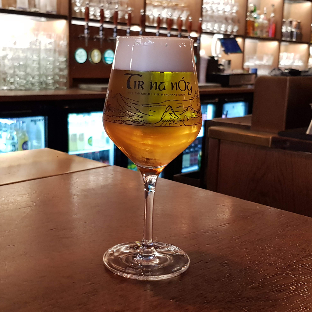 Craft Beer Glass - Black logo