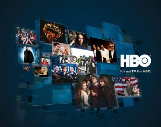 Una imagen con varias capturas de series de HBO y el logotipo de la plataforma televisiva HBO sobreimpresionado