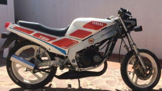 En la foto una Yamaha TZR 80 tomada de lado
