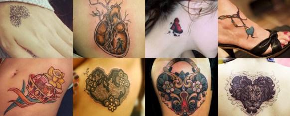 Imagen compuesta por ocho fotos pequeñas con diferentes tipos de tatuajes