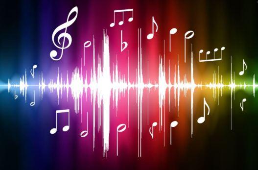 Imagen de sonido con los símbolos de una partitura