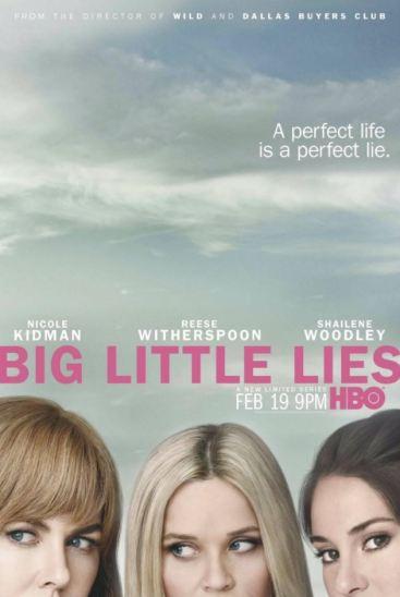 Carátula de la serie Big Little Lies donde salen las tres protagonistas principales