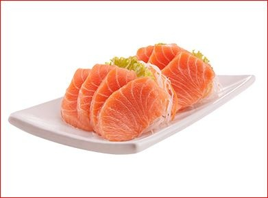 En la foto unas rodajas de pescado al estilo sashimi