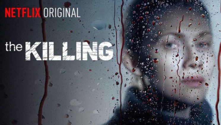 Caratula de la serie The Killing donde sale la protagonista principal