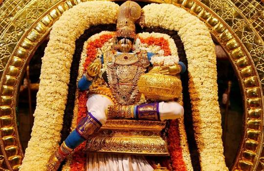 Lord Sri Venkateswara On Chandra Prabha Vahanam In Tirumala Brahmotsavams,2014