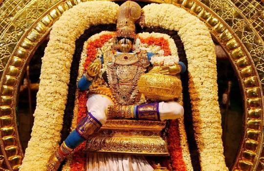 Lord Sri Venkateswara On Chandra Prabha Vahanam In Tirumala Brahmotsavams,2014