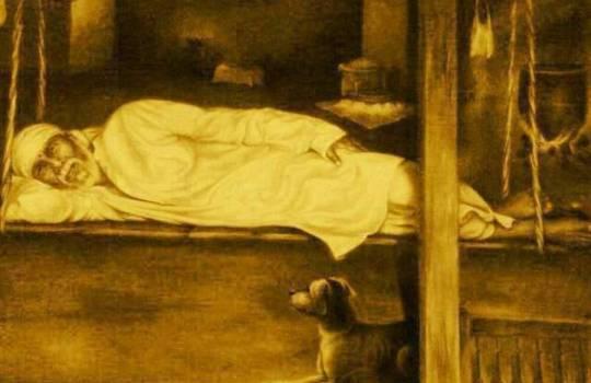 Original Photo Of Shirdi Sai Baba Relaxing In A Cradle In A Masjid In Shirdi
