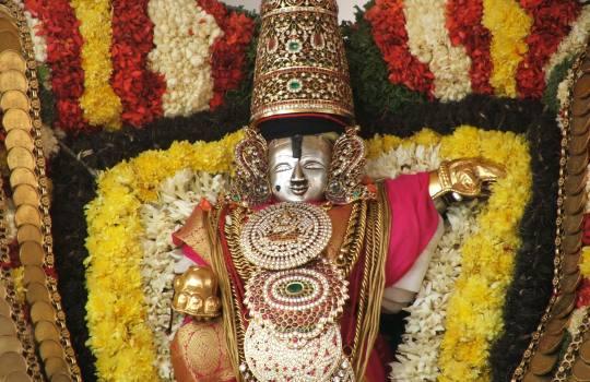 A Fully Decorated Lord Sri Venkateswara