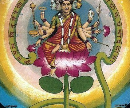 Painting Of Goddess Gayathri By Raja Ravi Varma-2