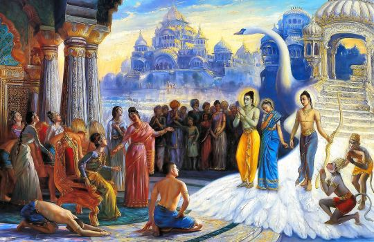 Sri Ram's Return To Ayodhya After Spending Fourteen Years In Exile