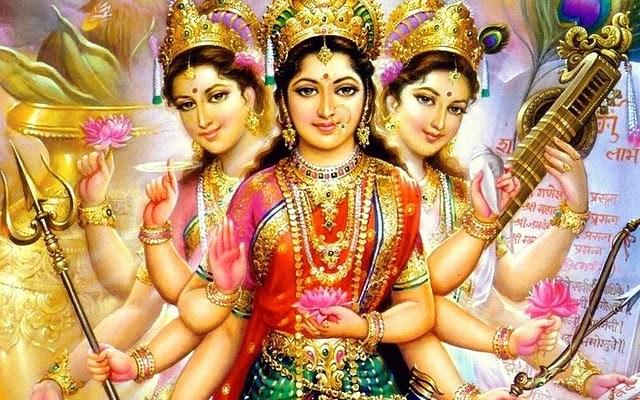 Maha Lakshmi Maha Saraswati Maha Parvathi Devi