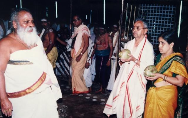 Brahmasri Yanamandra Venugopala Sastry With Sri Nemani Subbarao and Smt.Venkata Lakshmi