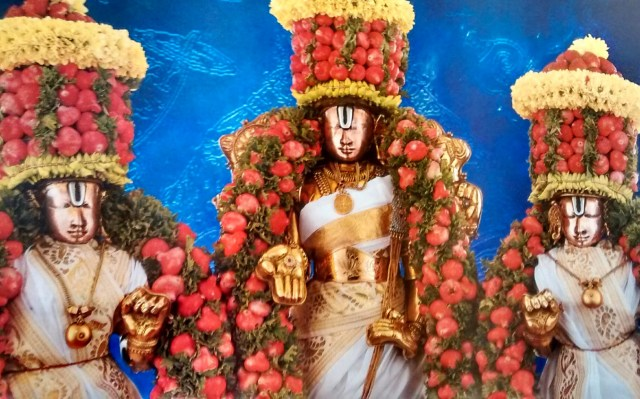 Lord Malayappa Swamy With Sridevi And Bhudevi