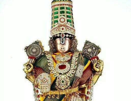 Lord Venkateswara With Diamond Crown