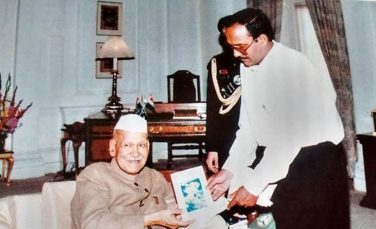 Sriram Sir With President Sankar Dayal Sarma