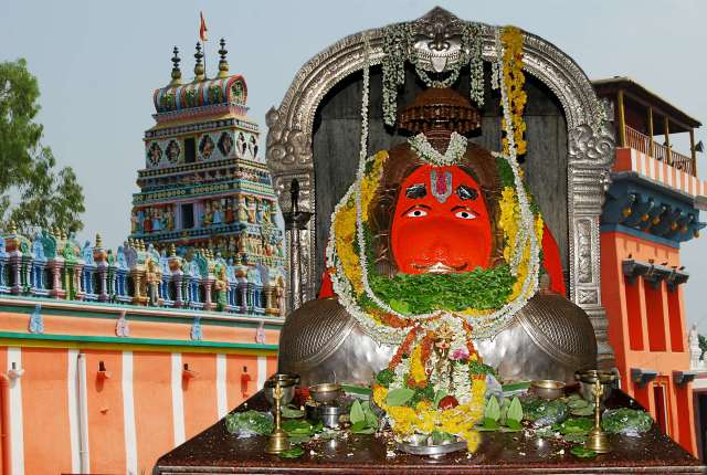 The Karmanghat Hanuman Temple In Hyderabad And It's Moola Virat