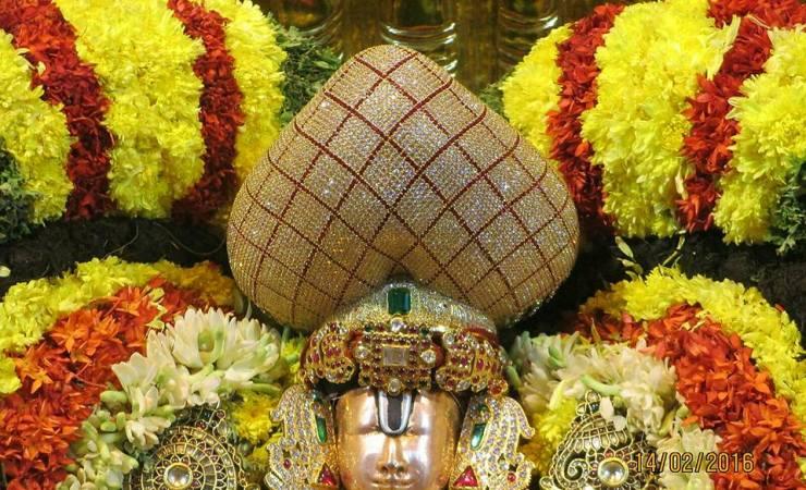 Lord Venkateswara With Diamond Crown