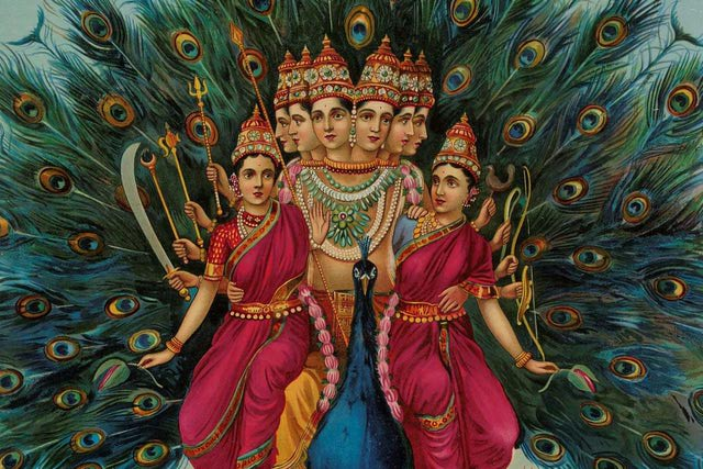 Amazing Painting Of Lord Murugan By Raja Ravi Varma