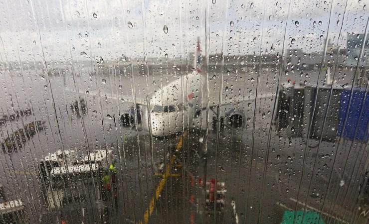 Aircraft In Rain