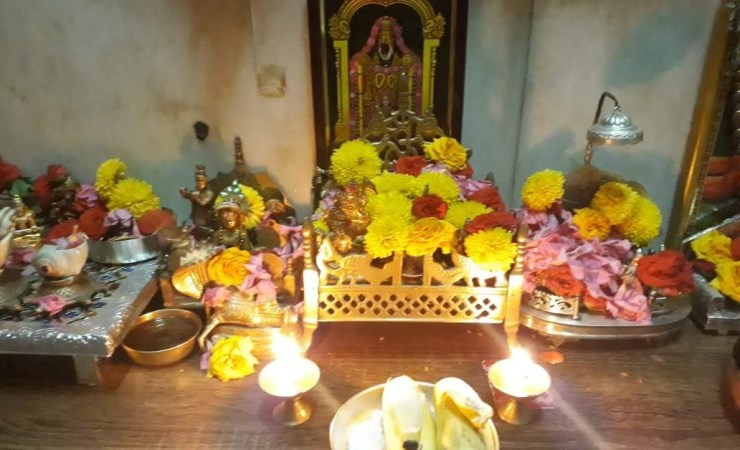Only Two Oil Lamps Placed In Front Of Lord Venkateswara On Normal Days