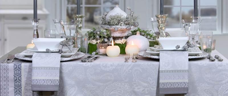 Festlich gedeckter Tisch  Silberhochzeit  TischDecken