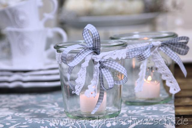 Tischdeko DIY Herbstliche Dekoration mit Weckglsern