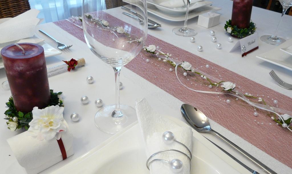 Tischdeko hochzeit efeu  Modeschmuck