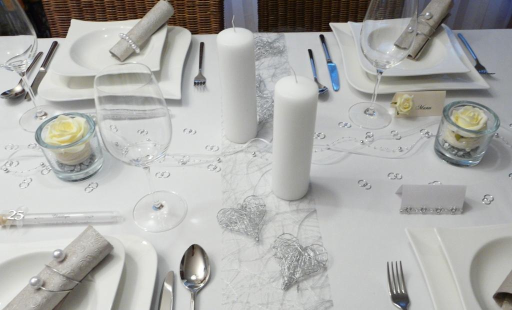Mustertische Silberhochzeit Gastgeschenke Tischdekoonline
