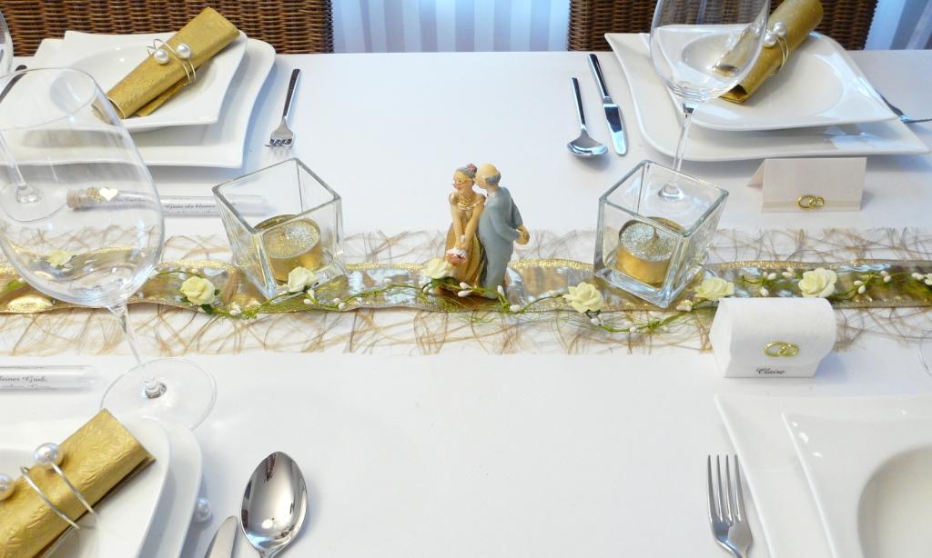 Mustertische zur Goldenen Hochzeit bei Tischdekoonline