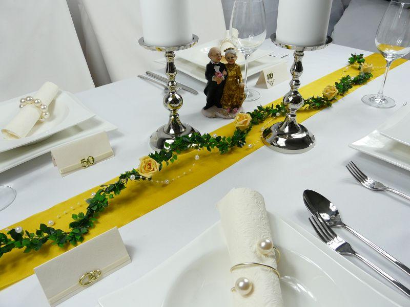 goldene hochzeit tischdeko basteln hochzeits und. Black Bedroom Furniture Sets. Home Design Ideas