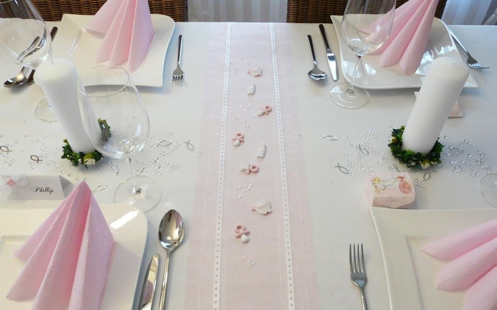 Tischdeko zur Taufe Taufdeko auf Mustertische von
