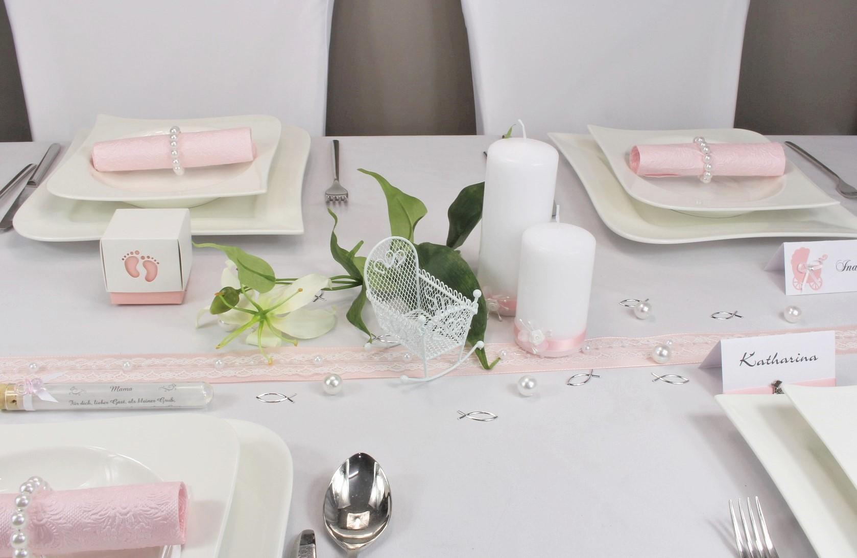 Taufe Deko Tisch Mdchen